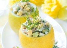 Sałatka majonezowa z tuńczykiem, jajkiem i ogórkiem - ugotuj