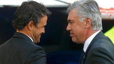 Trenerzy Luis Enrique i Carlo Ancelotti