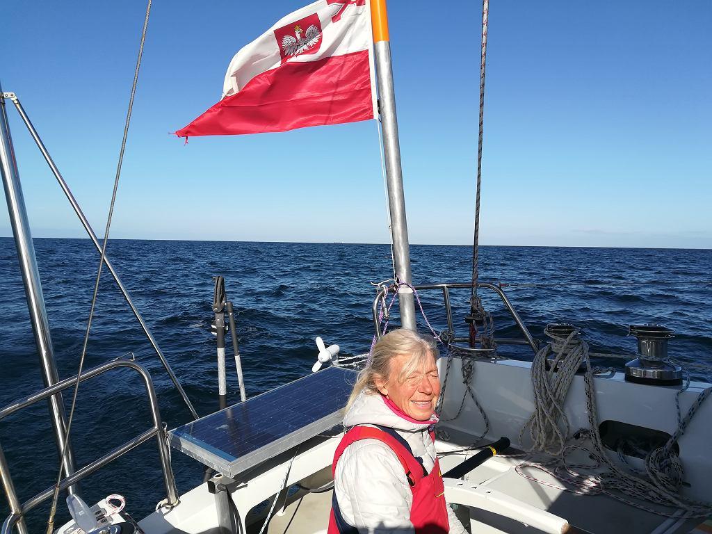 Joanna Pajkowska z flagą