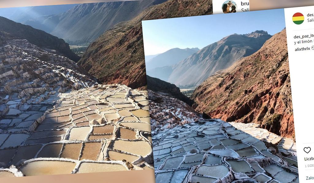 Peruwiańskie pola soli.