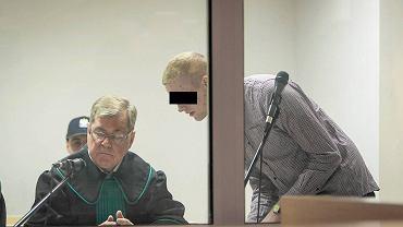 3 stycznia 2017 r. Proces Adama Z. oskarżonego o zabójstwo Ewy Tylman. Na zdjęciu: oskarżony Adam Z. i jego obrońca Ireneusz Adamczak