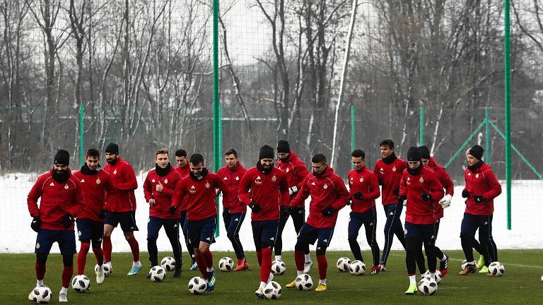Piłkarze Wisły Kraków - jeszcze na wspólnym treningu. Myślenice, 9 stycznia 2019