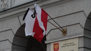 Kielce, 15 stycznia 2019. Żałoba po zabójstwie prezydenta Gdańska Pawła Adamowicza