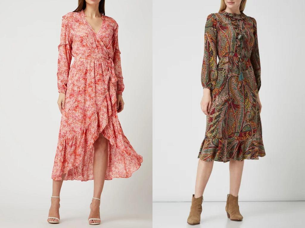 sukienki midi z wiskozy