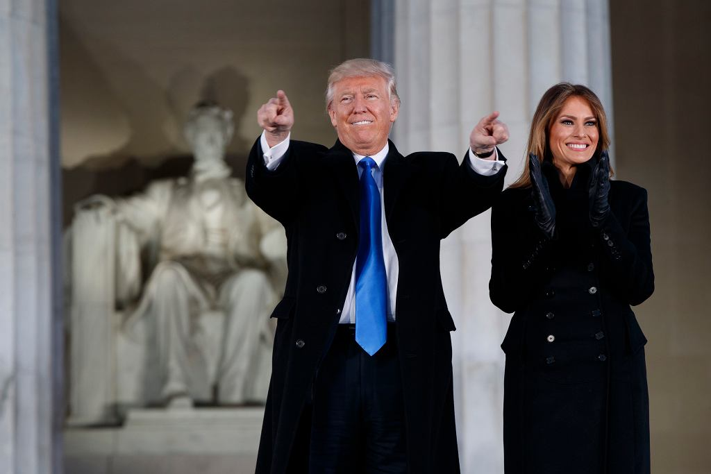 Trump z żoną