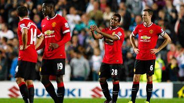 Załamani gracze United, z prawej Anderson i Jonny Evans