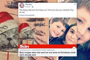 """Dziecko postanowiło wysłać świąteczne kartki. """"Ozdobiło"""" je na swój sposób. Mama: Módlcie się za mnie"""