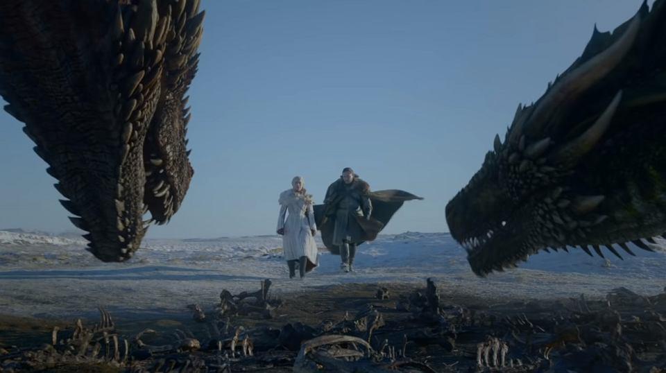 Kadr z premierowej zapowiedzi finałowego sezonu 'Gry o tron'.