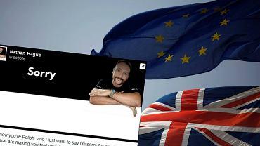 Brytyjczyk wykupił reklamę, by przeprosić Polaków