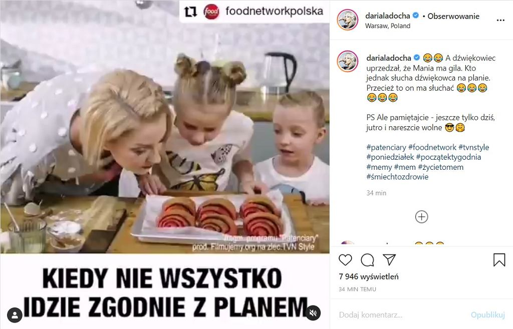 Daria Ładocha wrzuciła fragment wideo, który bawi do łez. 'Oglądam w kółko'
