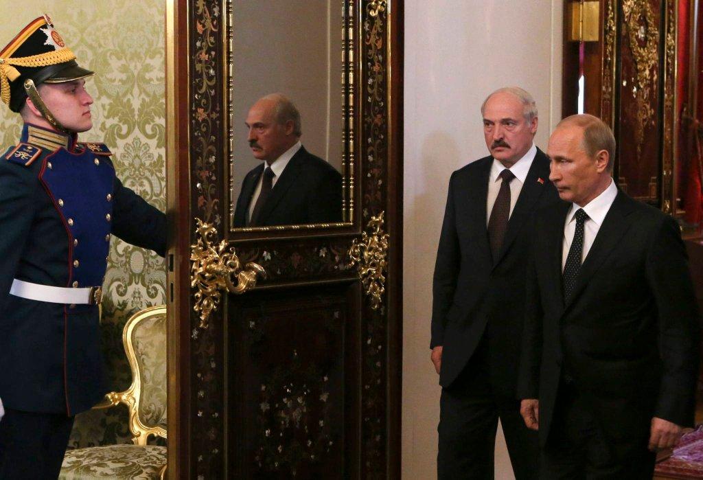 Aleksander Łukaszenka na spotkaniu z Władimirem Putinem