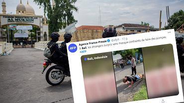 Indonezja - na Bali kara w postaci pompek dla osób, które nie noszą maseczek
