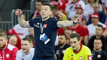 Mecz piłki ręcznej Polska - Niemcy w Gliwicach w ramach eliminacji do mistrzostw Europy 2020. Selekcjoner Patryk Rombel