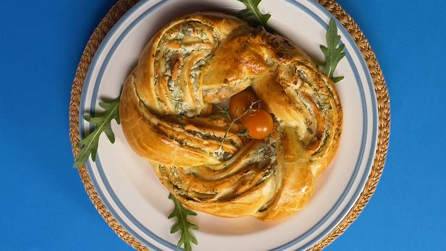 Wieniec drożdżowy z łososiem - dla romantyków i nie tylko