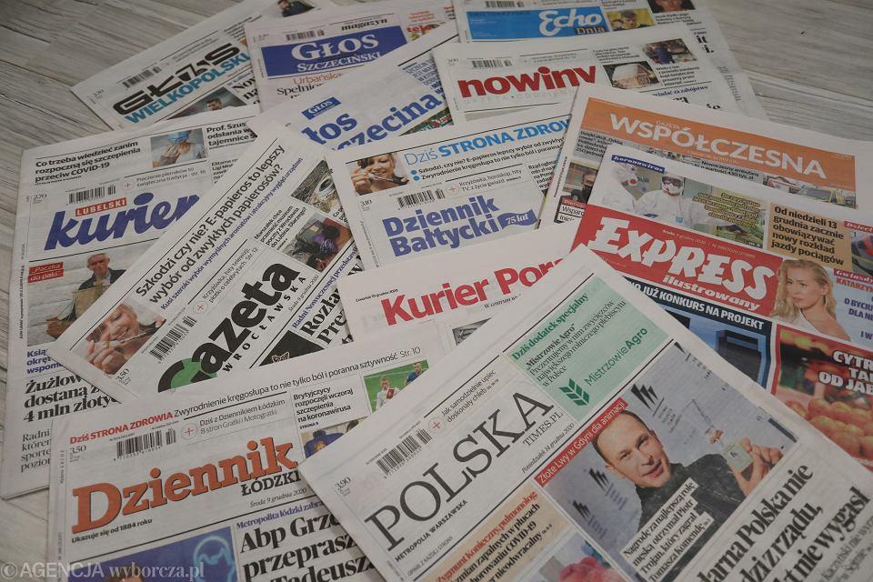 Regionalne gazety wydawane przez Polska Press