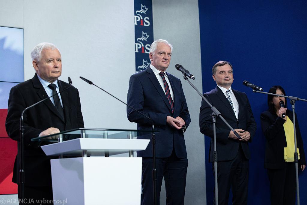 Jarosław Kaczyński, Jarosław Gowin, Zbigniew Ziobro