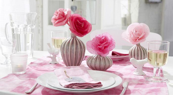 Róże z bibuły na Walentynki
