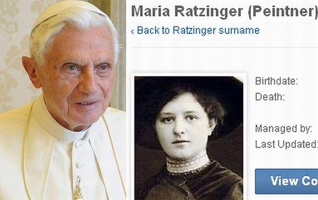 Benedykt XVI, matka - Maria Peitner