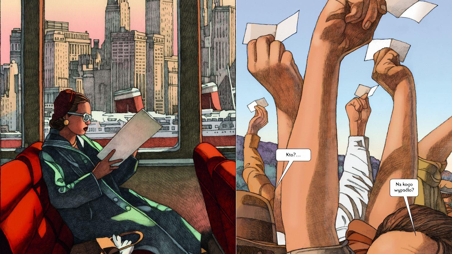 Kadry z 'Loterii' Milesa Hymana na podstawie opowiadania Shirley Jackson