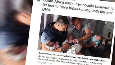 Para homoseksualistów doczekała się trojaczków
