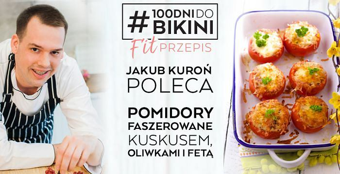 Jakub Kuroń poleca: Pomidory faszerowane kuskusem, oliwkami i fetą