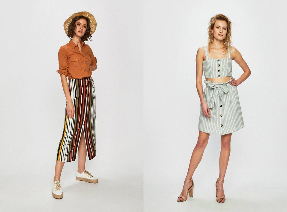 Modne i kobiece spódnice w paski, idealne na lato