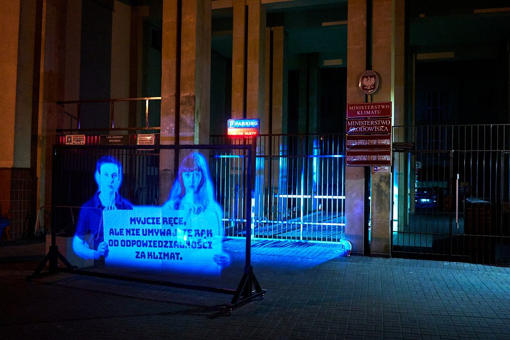 Marsz Hologramów w ramach Młodzieżowego Strajku Klimatycznego