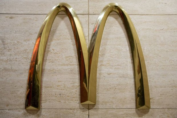 IThe McDonalds golden arches are displayed in a restaurant in New York