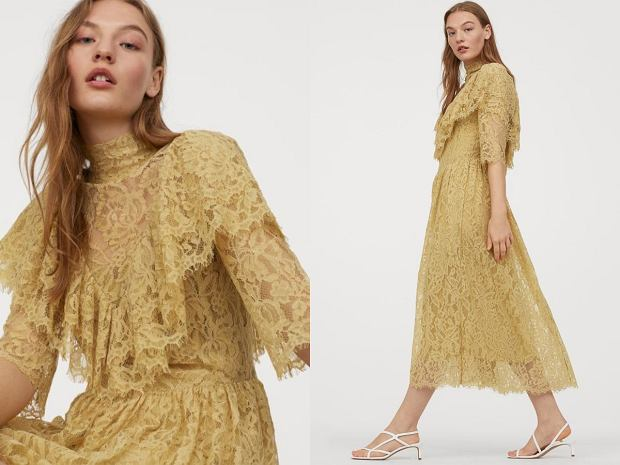 H&M sukienka z falbanami