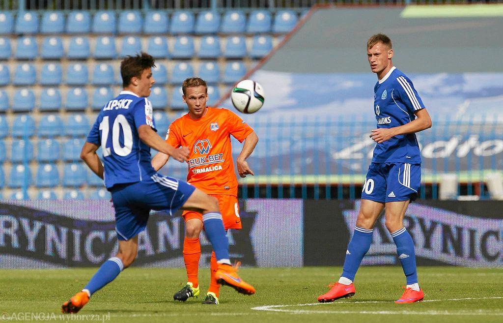Bartłomiej Babiarz w barwach Niecieczy podczas meczu z Ruchem