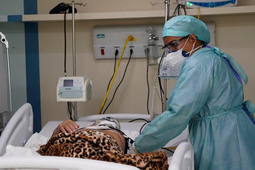 16.05.2020, Duque de Caxias, Brazylia, pacjent chory na COVID-19