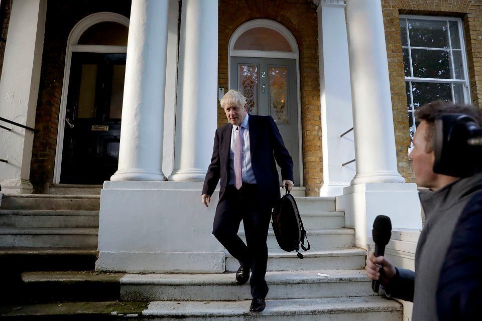 20.06.2019, Londyn, Boris Johnson w drodze na wybory przywódcy Partii Konserwatywnej.