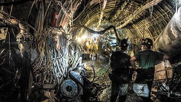 Górnicy w kopalni Budryk