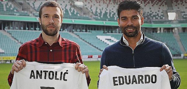 Domagoj Antolić i Eduardo da Silva, nowi piłkarze Legii