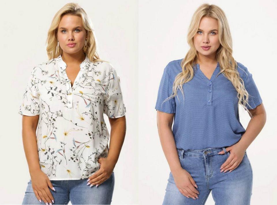 Eleganckie bluzki damskie duże rozmiary