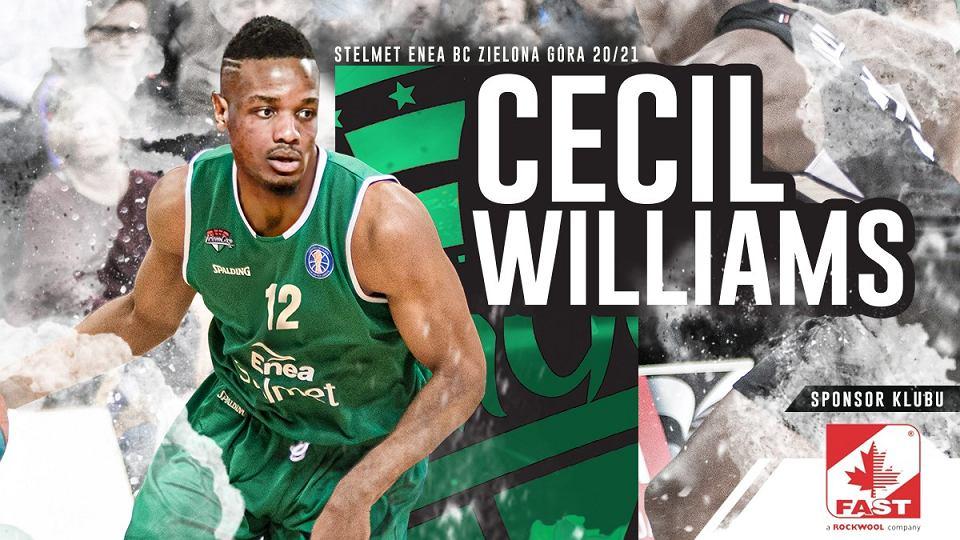 Cecil Williams podpisał kontrakt ze Stelmetem Enea BC Zielona Góra