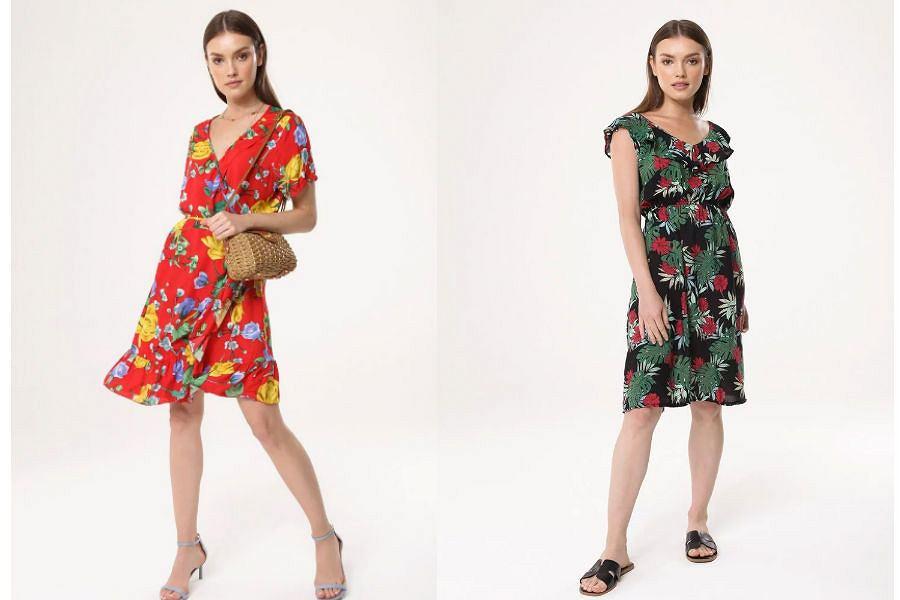 Sukienki letnie w kwiaty tanie