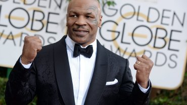 Mike Tyson na gali wręczenia Złotych Globów, styczeń 2014