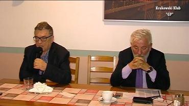 Ryszard Kapuściński i Bolesław Kosior podczas spotkania