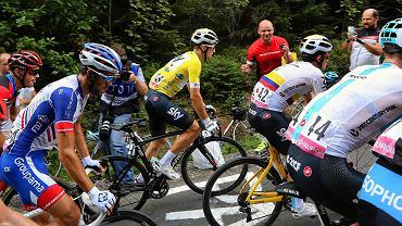 Najszybszym Polakiem Tour de France 2019 był Michał Kwiatkowski. Na zdj. w żółtej koszulce lidera podczas ubiegłorocznego wyścigu dookoła naszego kraju