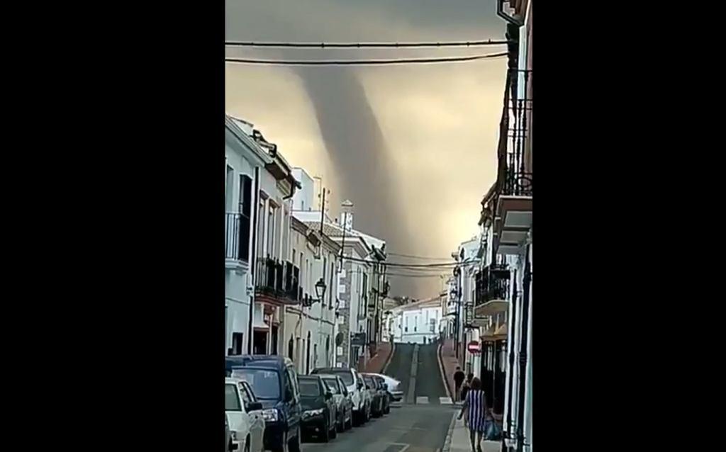 Tornado w Maladze.