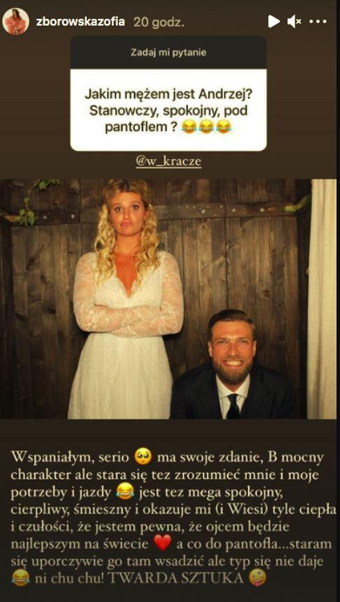 Zofia Zborowska o mężu