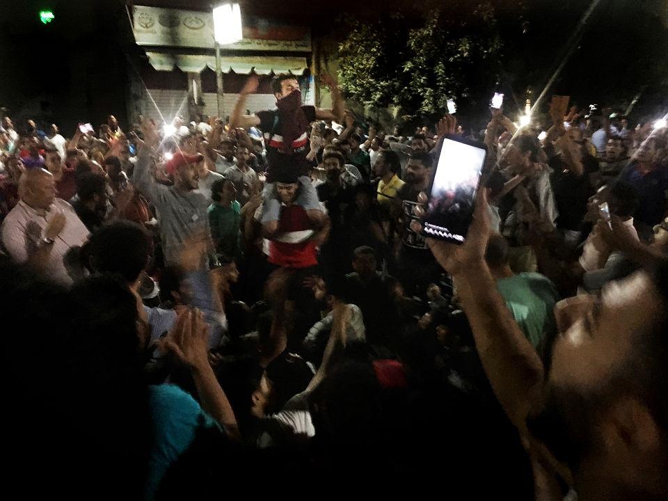 Antyrządowe demonstracje w Egipcie. Kair, 22 września 2019