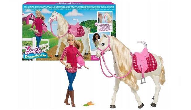 Zabawka Barbie lalka w zestawie z koniem interaktywnym
