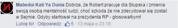 pozytywna reakcja użytkowników Facebooka