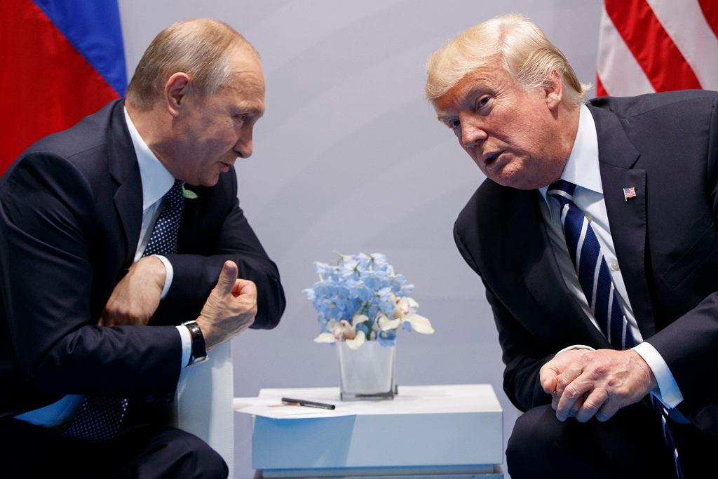 Spotkanie Donalda Trumpa z Władimirem Putinem podczas szczytu G-20 w Hamburgu 7 lipca 2017