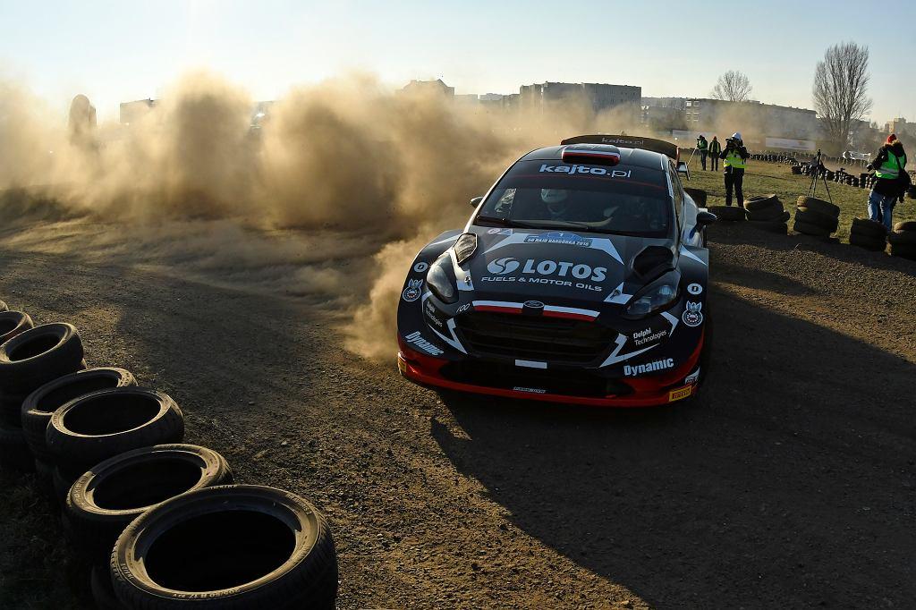 Kajetan Kajetanowicz w Rajdzie Barbórka za kierownicą Forda Fiesta WRC