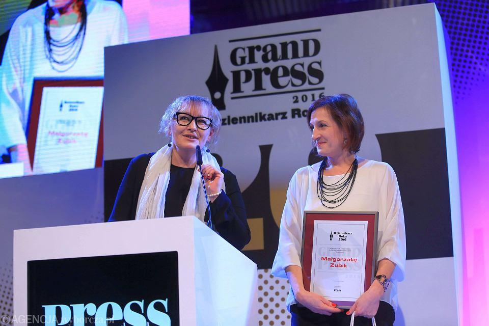 Grand Press w kategorii 'Dziennikarstwo śledcze' otrzymały Iwona Szpala i Małgorzata Zubik