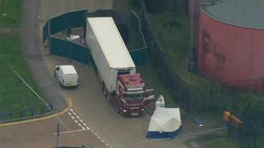 Ciężarówka, w której znaleziono ciała 39 osób