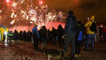 Nieco ponad trzy minuty trwał pokaz bezhukowych fajerwerków, który w niedzielę wieczorem zakończył 27. finał Wielkiej Orkiestry Świątecznej Pomocy w Sosnowcu.